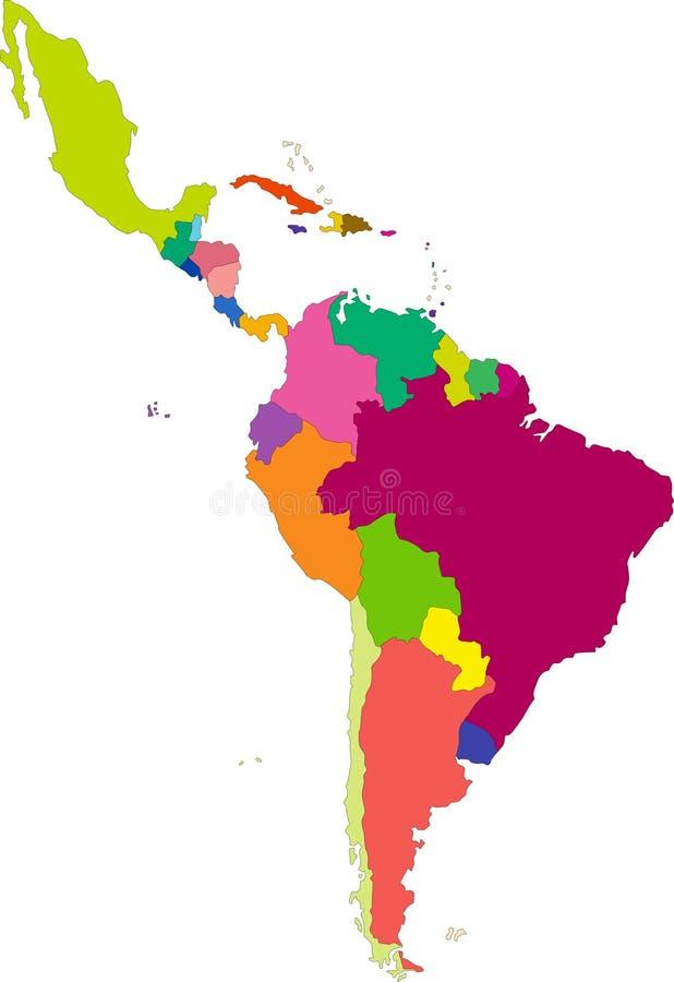 Mexico Latin America Map Stock Illustrations – 712 Mexico ...