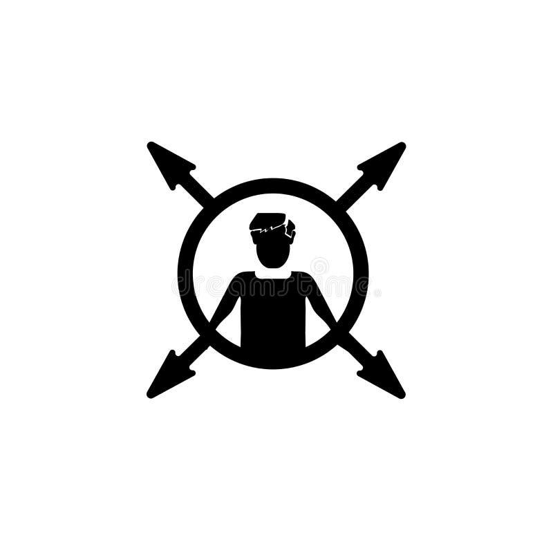 Vector polivalente del icono del trabajador aislado en el fondo blanco, muestra polivalente del trabajador, ejemplos del negocio stock de ilustración