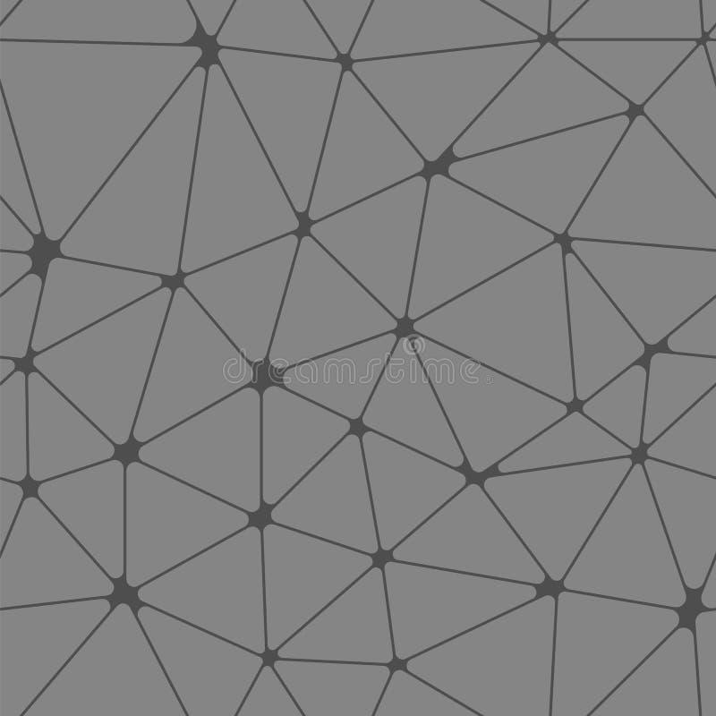Vector polivinílico bajo abstracto stock de ilustración
