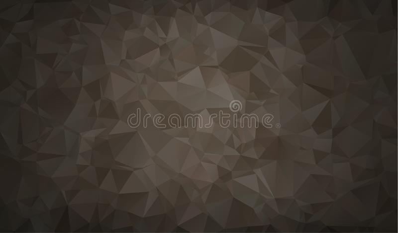 Vector Polygon Abstract modern Polygonal Geometric Triangle Background. Black Geometric Triangle Background. royalty free illustration