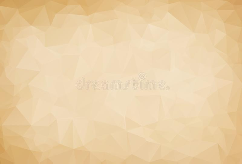Vector Polygon Abstract modern Polygonal Geometric Triangle Background. brown Geometric Triangle Background. vector illustration