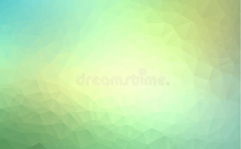 Vector Polygon Abstract modern Polygonal Geometric Triangle Background. Light Green Geometric Triangle Background. vector illustration