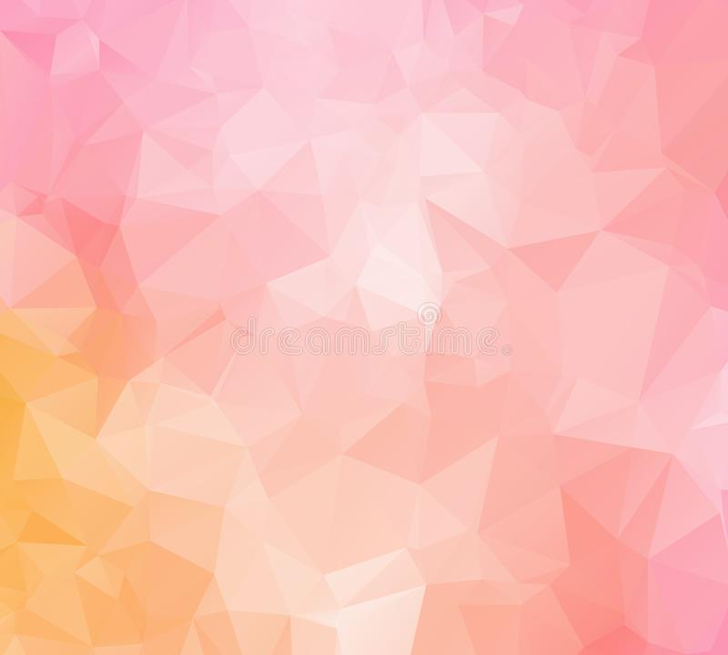 Polygonal shapes background, low poly triangles mosaic, black crystals backdrop, vector design wallpaper stock illustration