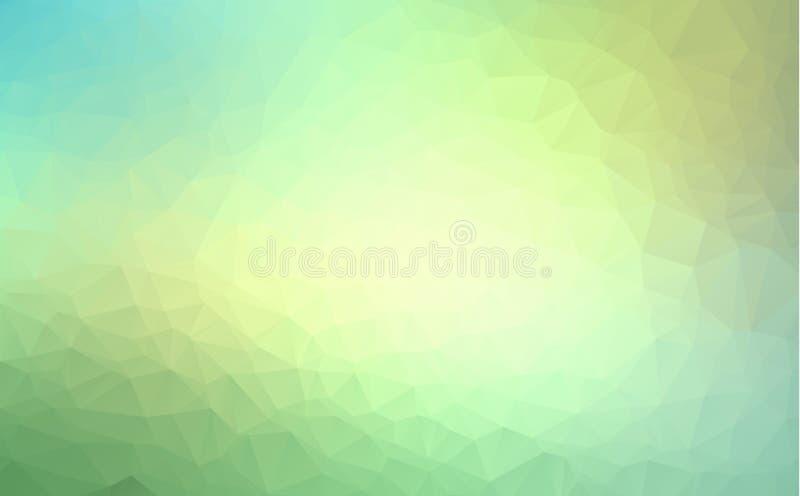 Vector Polygon-abstrakten modernen polygonalen geometrischen Dreieck-Hintergrund Hellgrüner geometrischer Dreieck-Hintergrund vektor abbildung