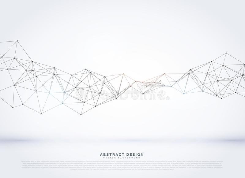 vector polygonal abstract network wireframe background vector illustration