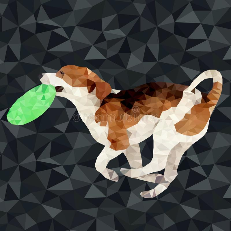 Vector polygonal dogs silhouettes royalty free illustration