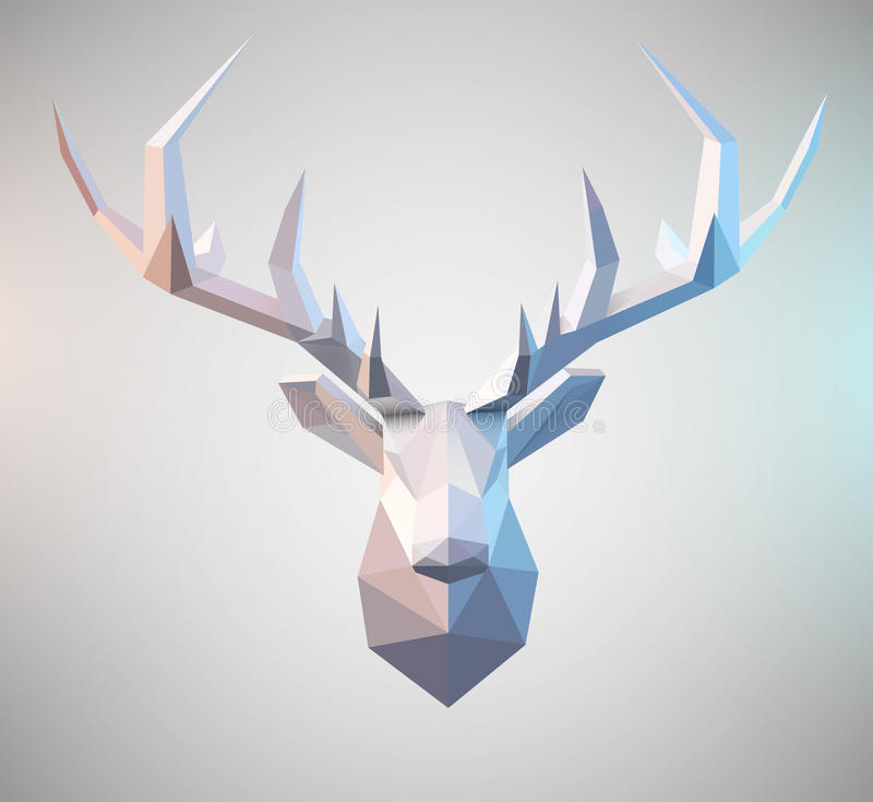 Vector Polygonal Stag royalty free illustration