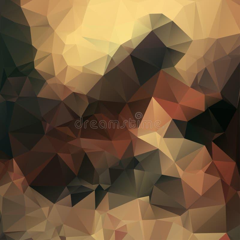 Vector Polygondreieck-Mosaikhintergrund in muti Farben stockfotos