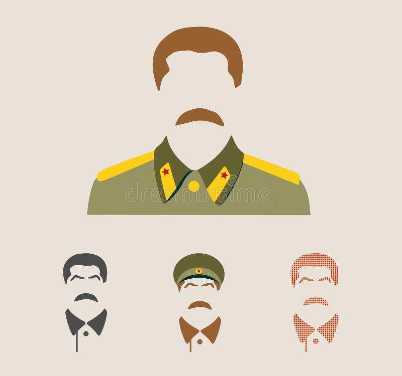 Vector portrait of Joseph Stalin royalty free illustration