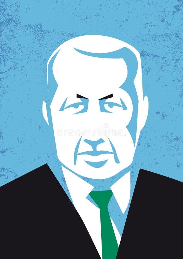 Vector portrait of Turkish president Recep Tayyip Erdogan vector illustration