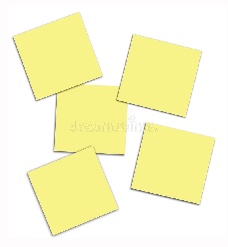 Vector Post It Notes royalty free illustration
