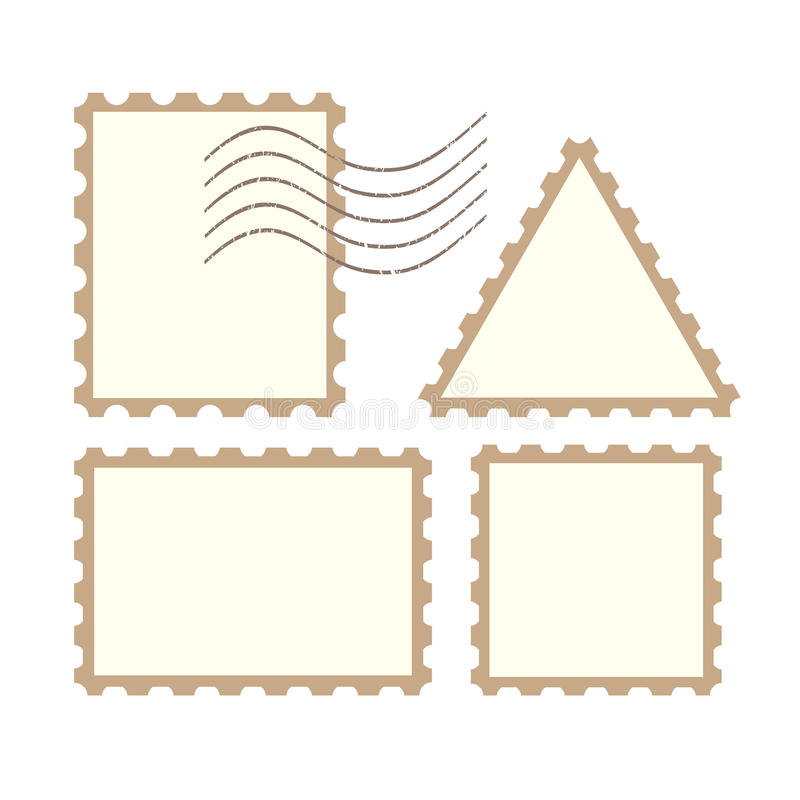 Vector post stamps royalty free illustration