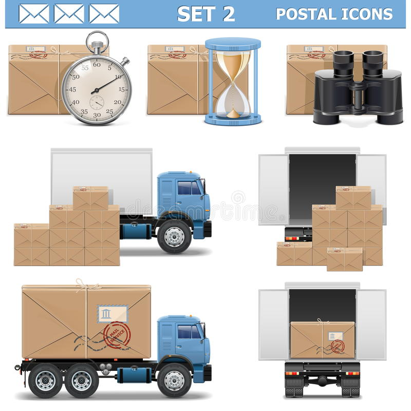 Free Vector Postal Icons Set 2 Stock Image - 36722081