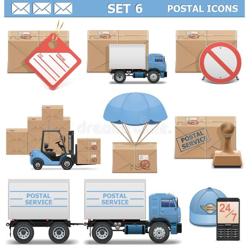 Vector Postal Icons Set 6 vector illustration
