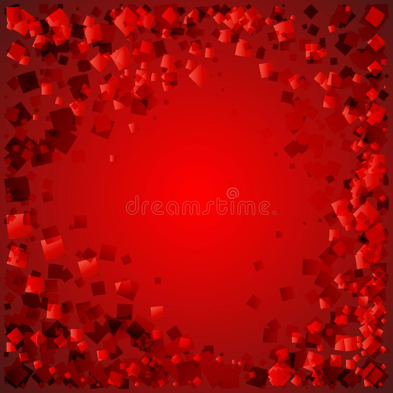 Vector postcard of red diamonds on a bloody background with love stock illustration