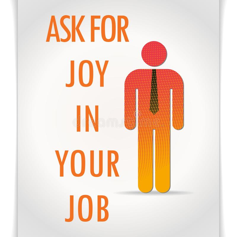 Download Vector Poster Ask For Joy In Your Job Stock Vector - Illustration of simple, work: 34725050