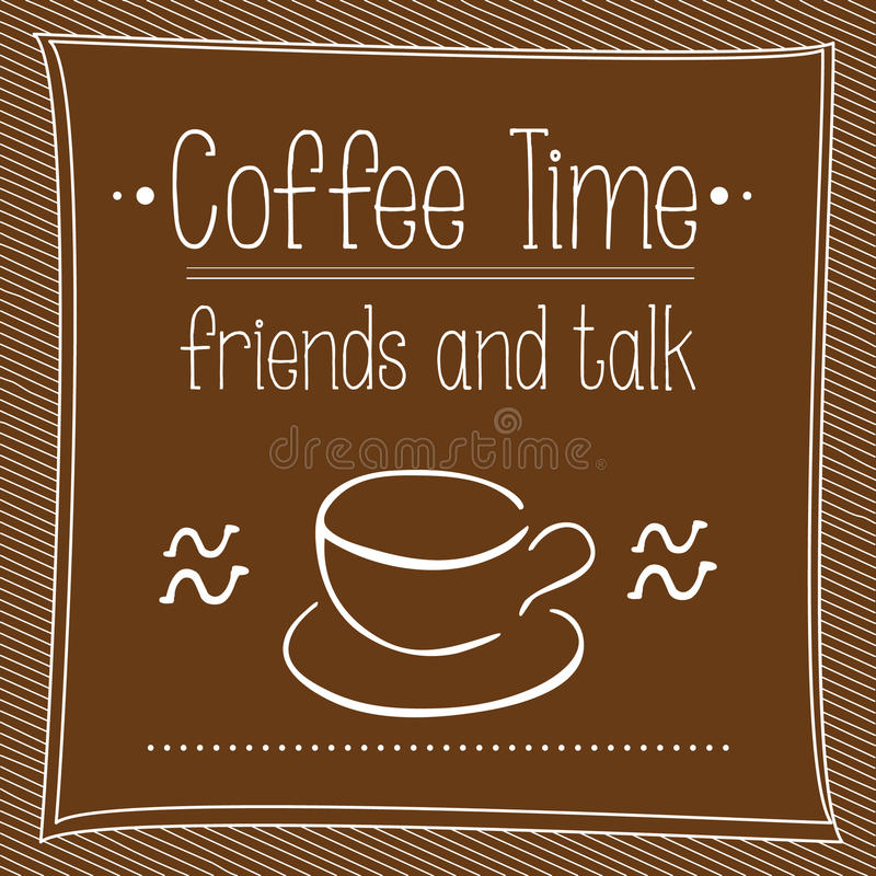 Free Vector Poster Cofee Time Stock Images - 48010164