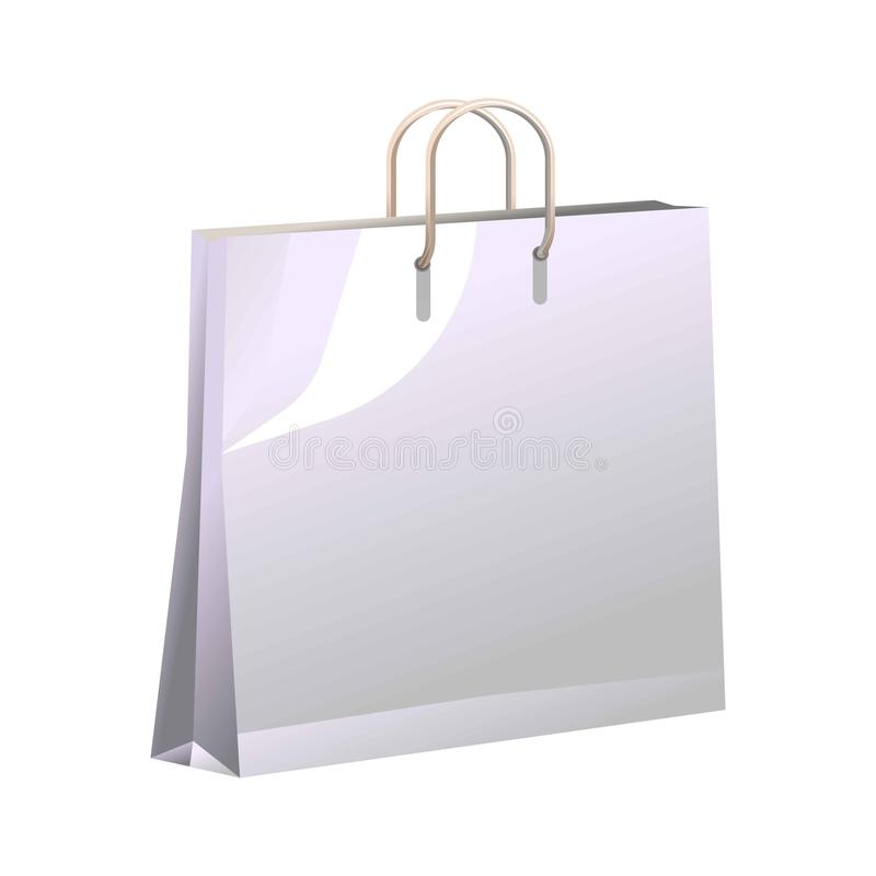 Vector poster of container made of carton for carrying goods. Vector poster in realistic design of container made of carton for carrying goods and food products stock illustration