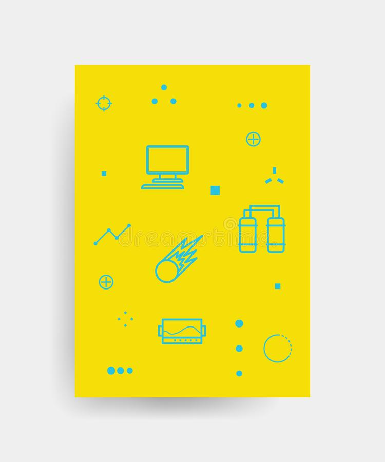 Vector poster design for Back to school with high detailed illustrations. Wrinkled paper, school supplies icons vector illustration