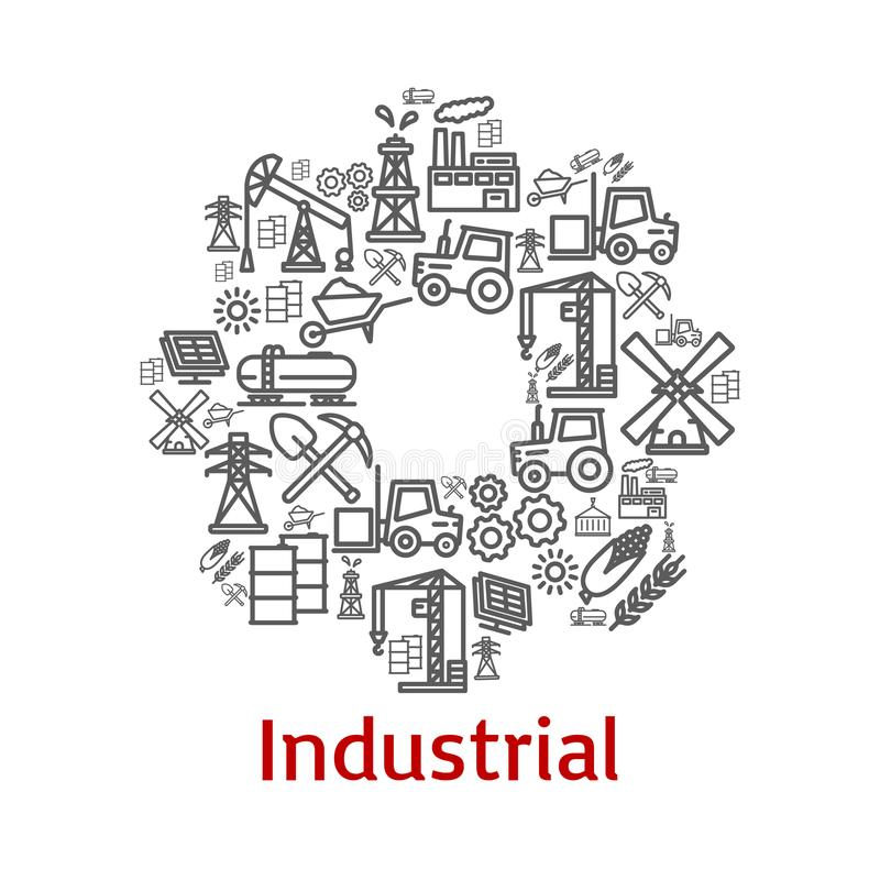 Free Vector Poster Of Industrial Farm Agriculture Icons Stock Photos - 100622923