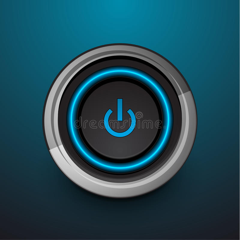 Download Vector power button stock vector. Image of image, abstract - 26017344