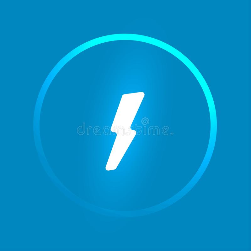 Vector power button template. Glowing lightning vector illustration