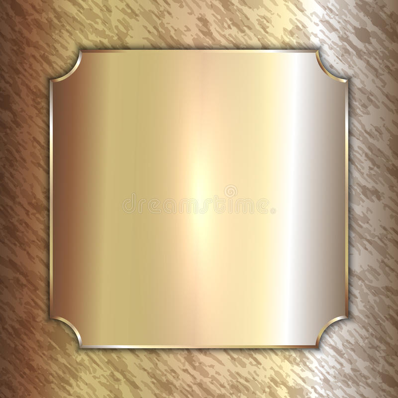 Free Vector Precious Metal Golden Plate On Patina Royalty Free Stock Photos - 50718198