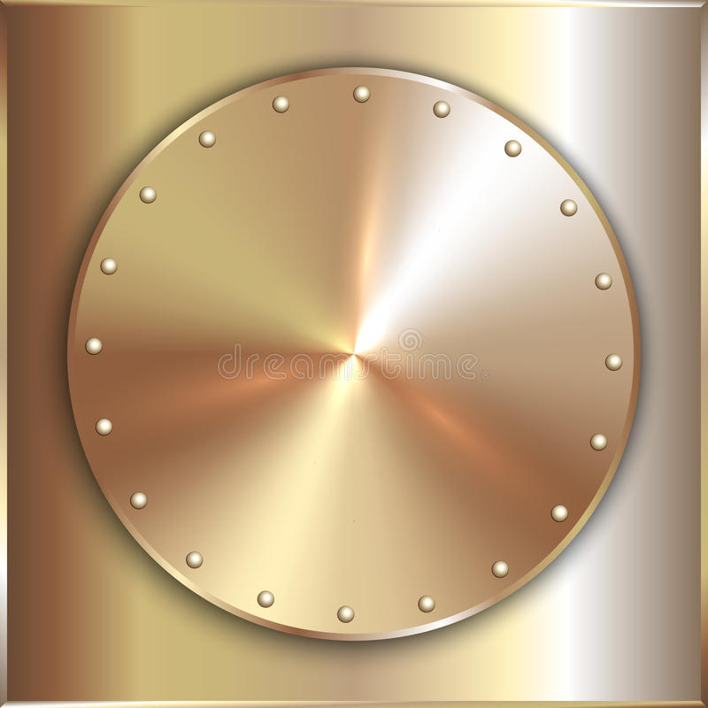 Free Vector Precious Metal Round Golden Plate With Stock Photos - 50724983