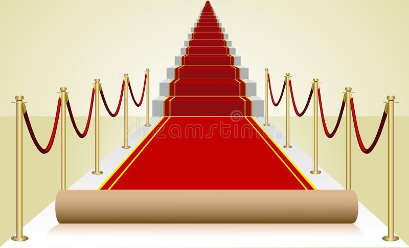 Vector première rood tapijt stock illustratie