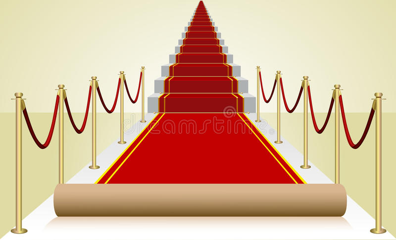 Vector premiere red carpet stock images