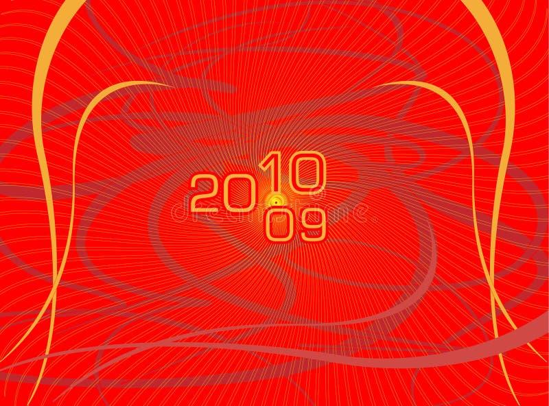 Vector prentbriefkaar voor een nieuw jaar stock afbeeldingen