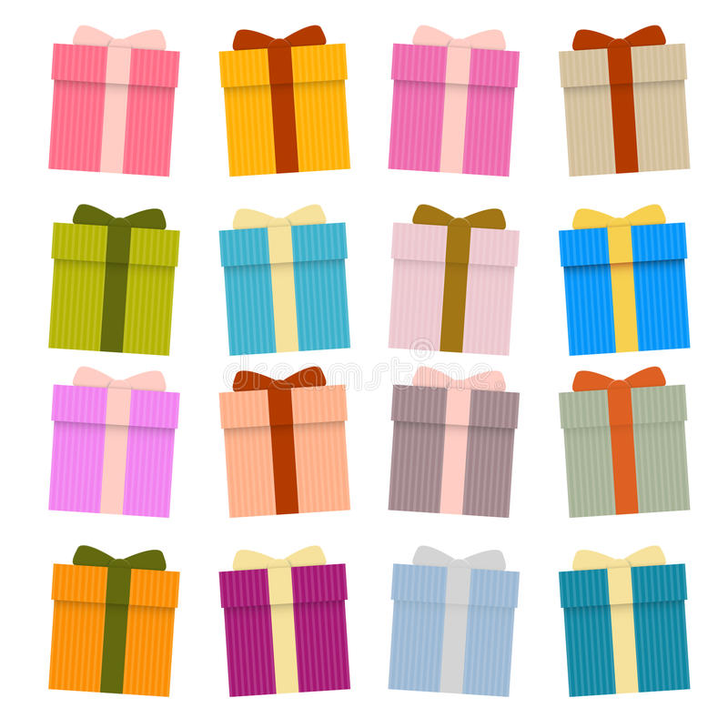 Download Vector Present Boxes, Gift Boxes Set Stock Vector - Illustration of object, image: 39385454