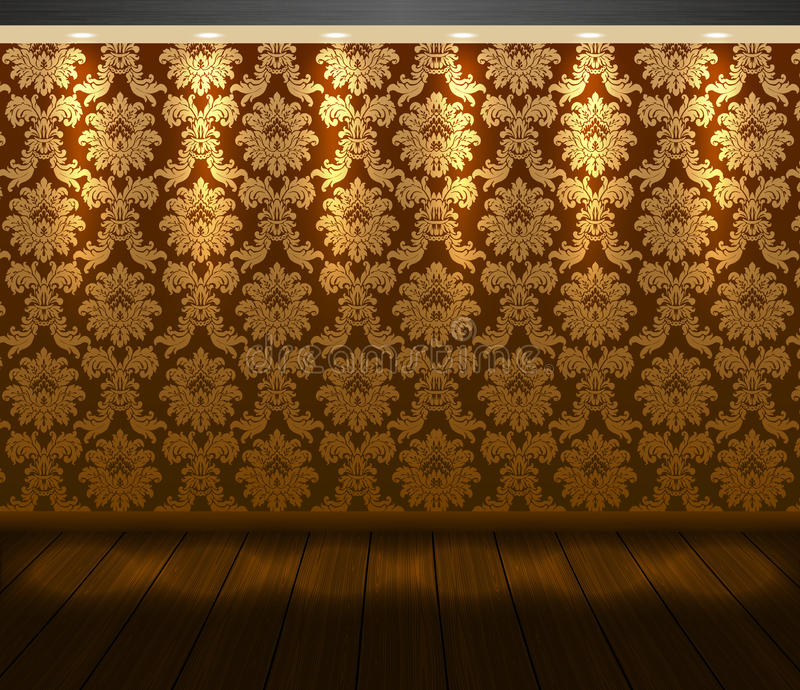 Download vector presentation baroque design scene with spotlight and wooden floor stock vector illustration of