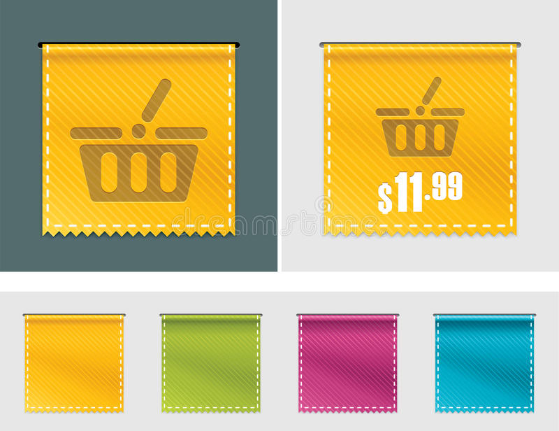 Vector price tag ribbon royalty free illustration