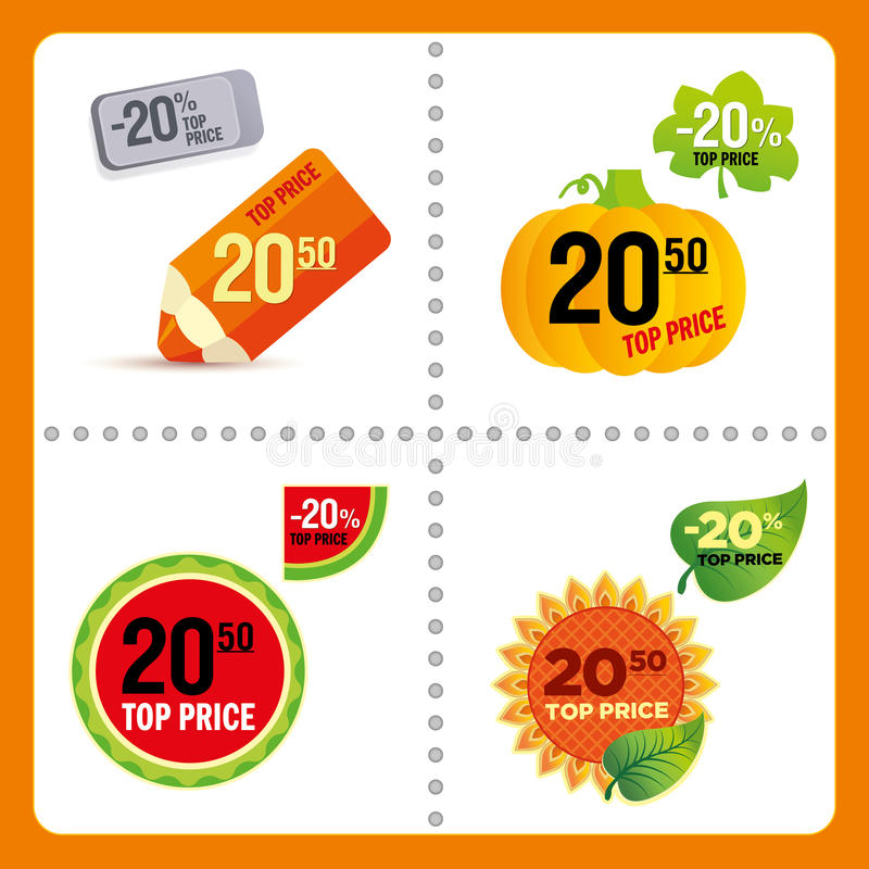 Vector price tags royalty free stock image