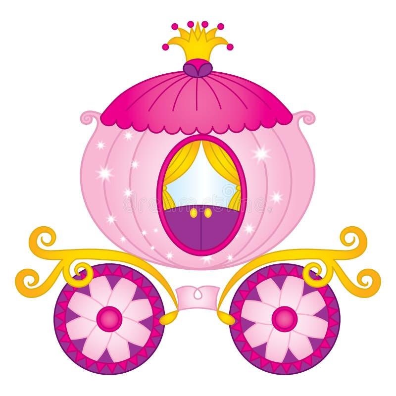 Vector Princess carriage. Vector Cinderella Carriage royalty free illustration