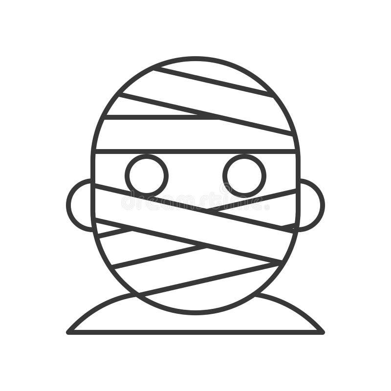 Vector principal de la momia, movimiento editable del carácter de Halloween stock de ilustración