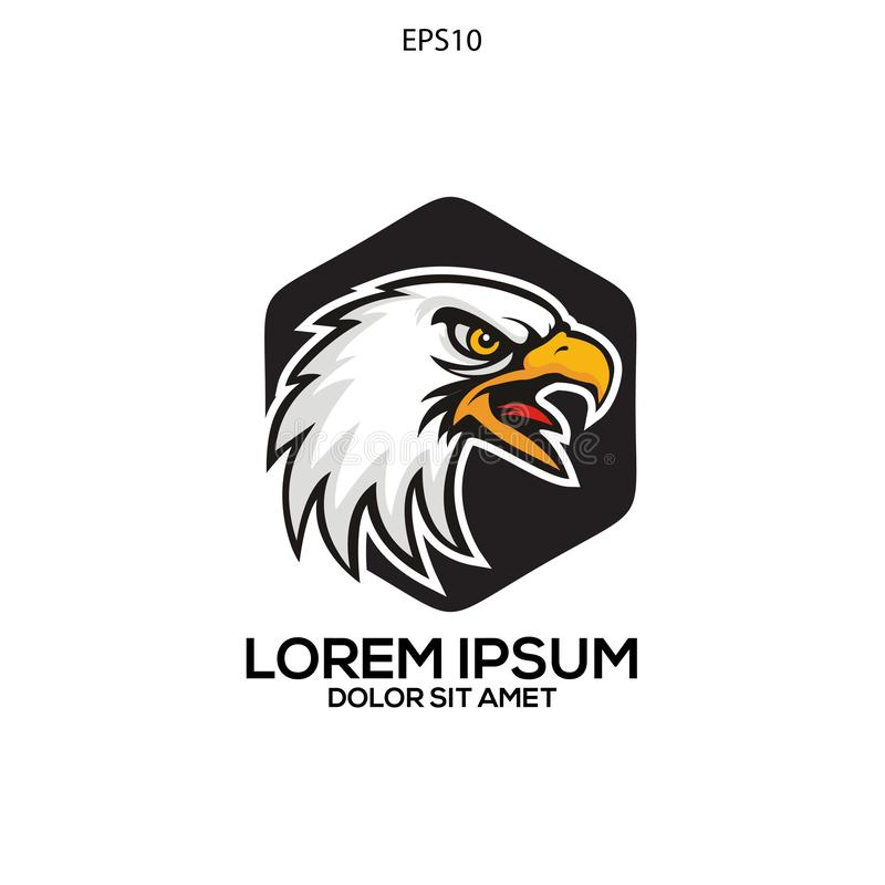 vector principal del águila única del logotipo stock de ilustración