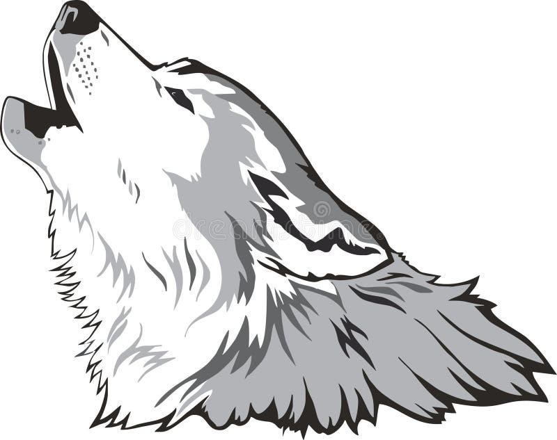 Vector principal del lobo stock de ilustración