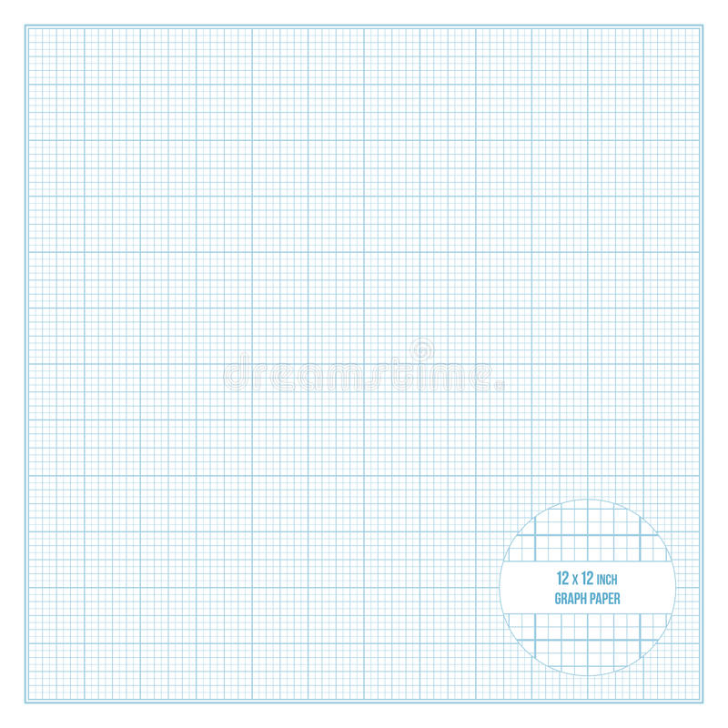 Vector Printable Graph Paper X Inch Size Stock Vector