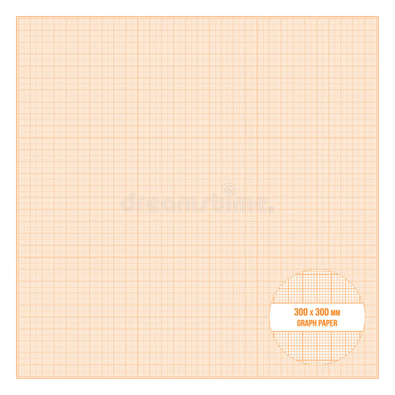 vector orange metric graph paper seamless pattern stock