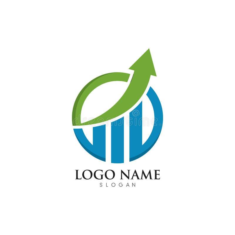 Vector profesional de la plantilla del logotipo de las finanzas del negocio stock de ilustración