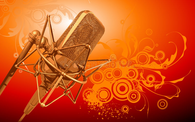 Vector professional microphone royalty free illustration