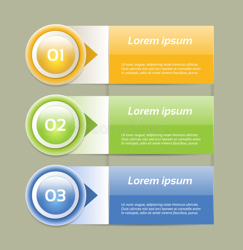 Vector Progress Background / Product choice or Version. Eps 10 stock illustration