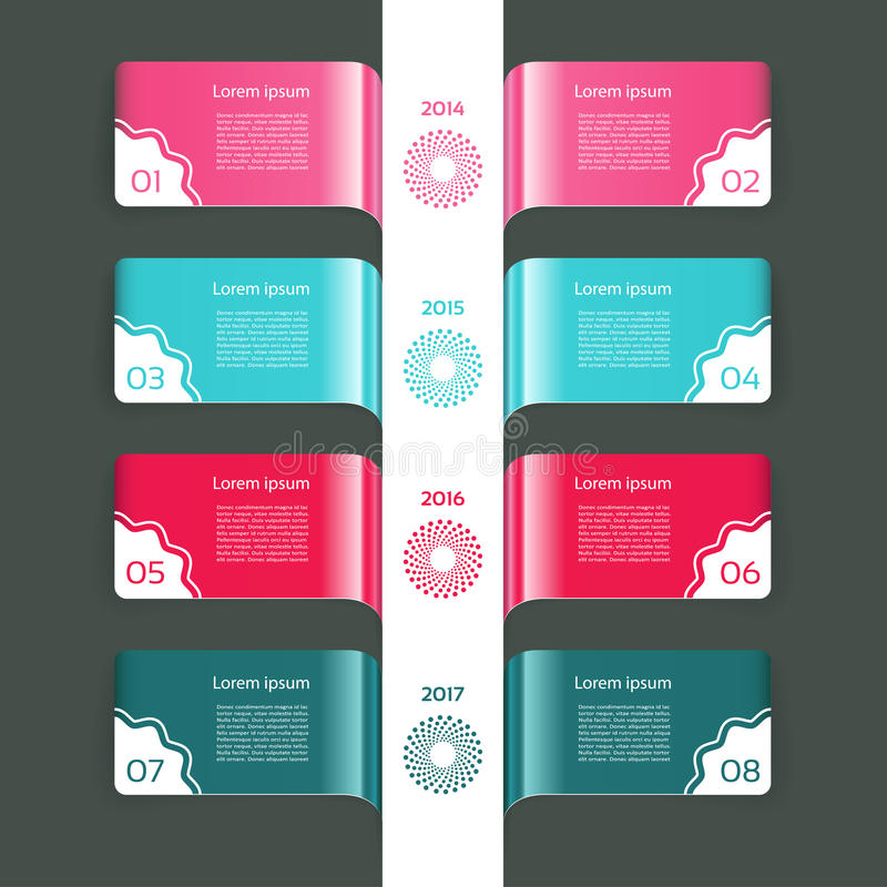 Vector Progress Background / Product Choice or Version. Eps 10 vector illustration