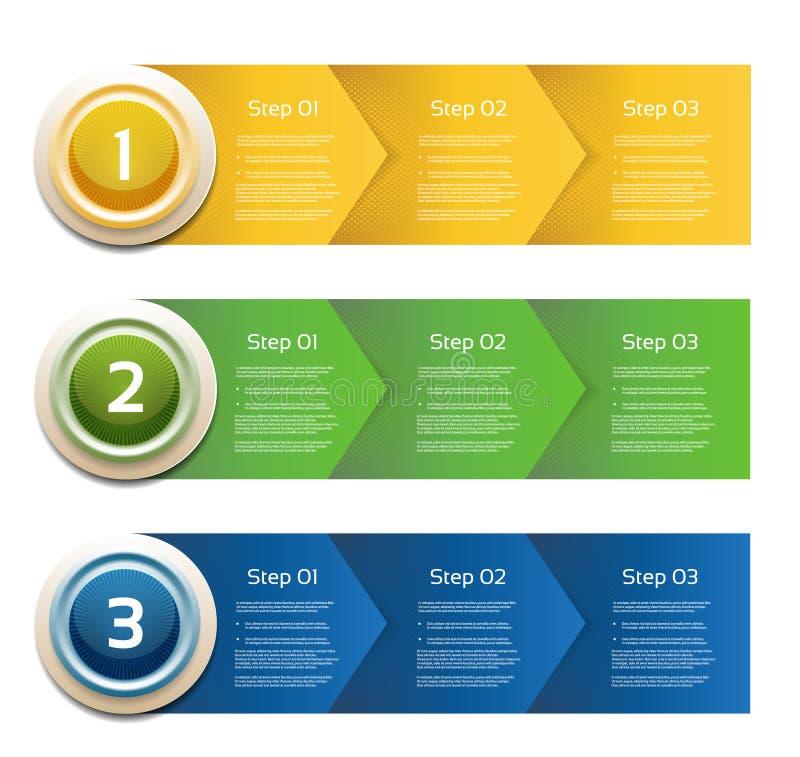 Vector Progress Background / Product choice or Version. Vector paper progress. eps 10 stock illustration