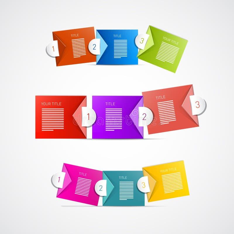 Vector Progress Steps for Tutorial, Infographics royalty free illustration