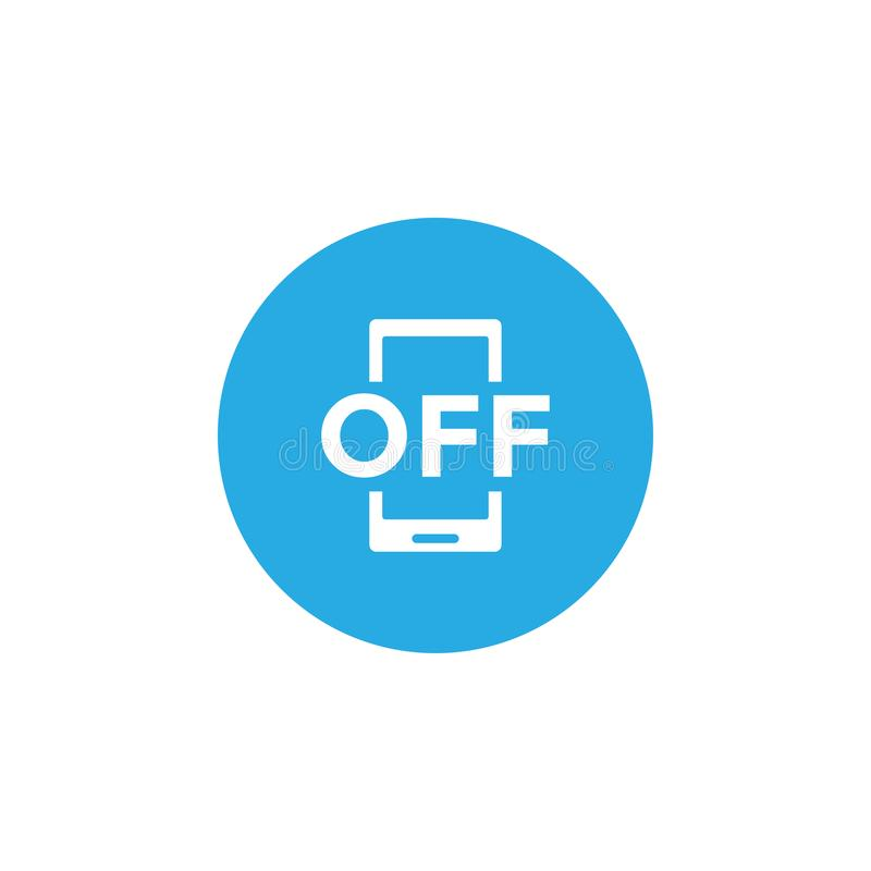 Vector prohibido de la plantilla del diseño del icono del teléfono ilustración del vector
