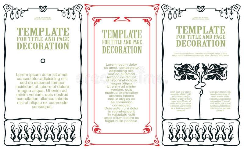 Vector propagandas do molde, convites ou o outro inseto ilustração stock