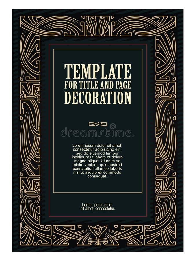 Vector propagandas do molde, convites ou o outro inseto ilustração royalty free